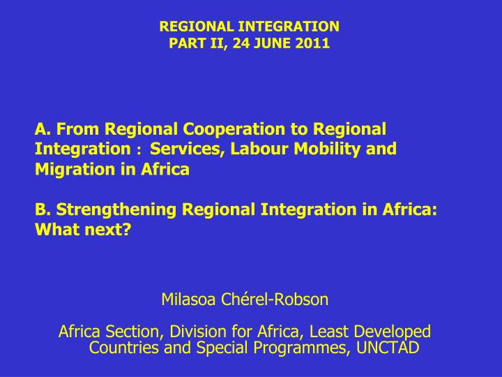 regional intergration African development bank group policy and strategy (ripos) 2014-2023 regional integration integrating africa: creating the next global market.