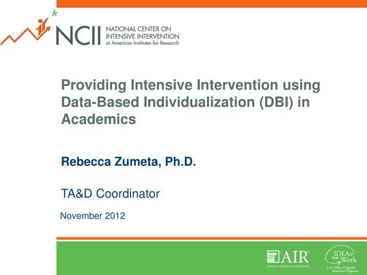 providing intensive intervention using data based individualization dbi in academics n.