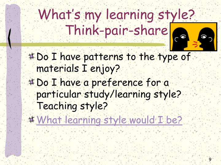 What's my learning style?