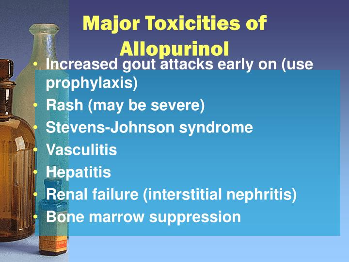 Major Toxicities of Allopurinol