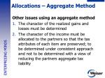 allocations aggregate method2