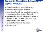 economic allocations investors capital account