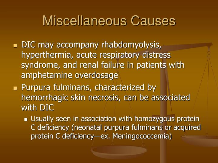 Miscellaneous Causes