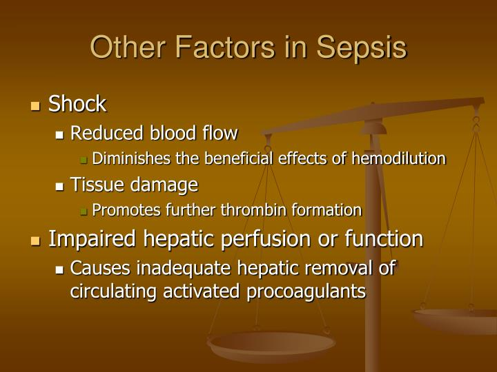 Other Factors in Sepsis