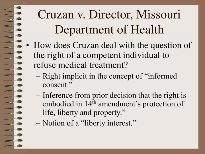 Cruzan v. Director, Missouri Department of Health