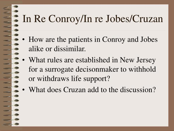 In Re Conroy/In re Jobes/Cruzan