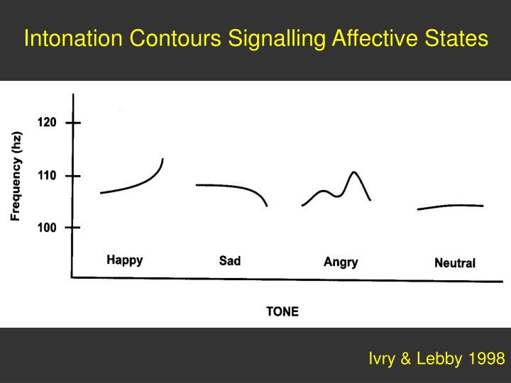 Intonation Contours Signalling Affective States