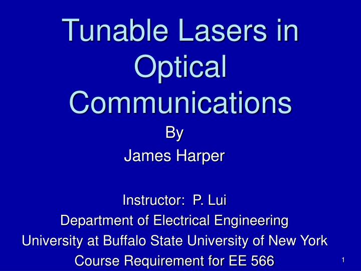 Tunable lasers in optical communications