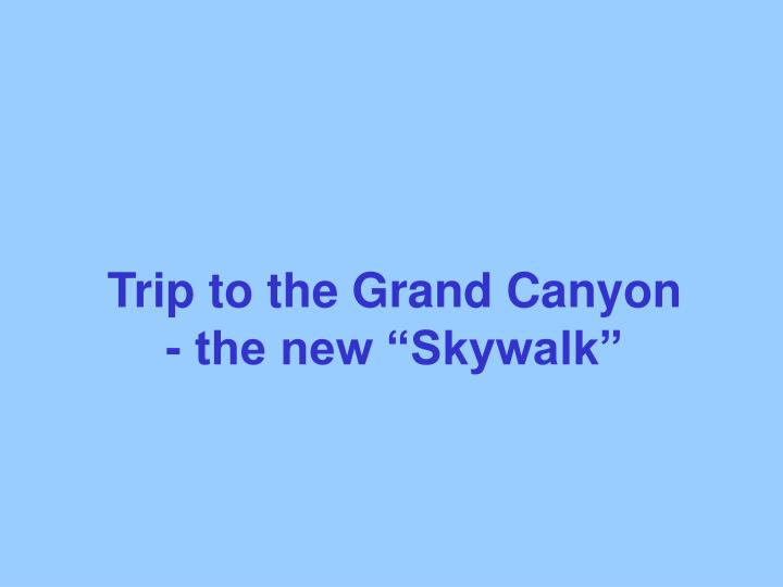 Trip to the Grand Canyon