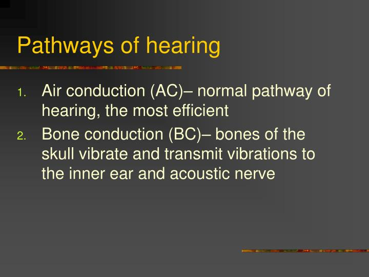 Pathways of hearing
