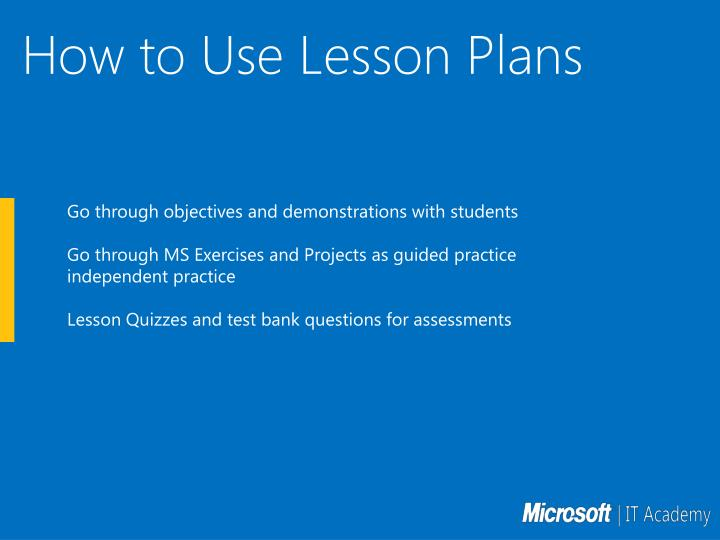 How to Use Lesson Plans