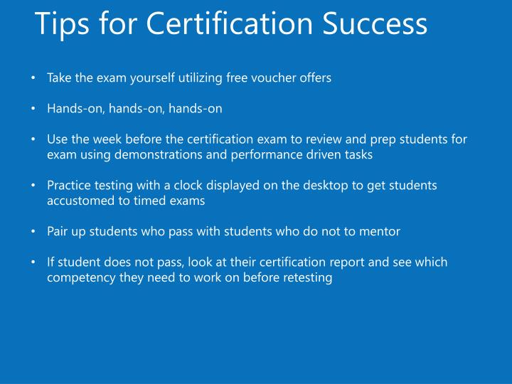 Tips for Certification Success