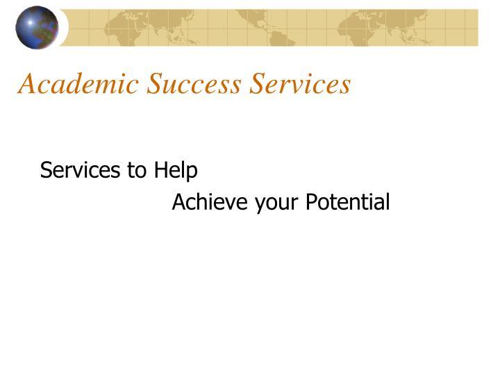 Academic Success Services