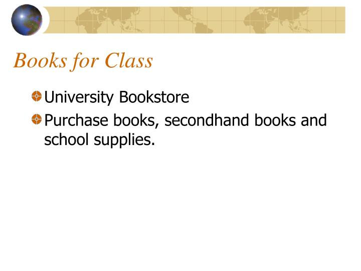 Books for Class