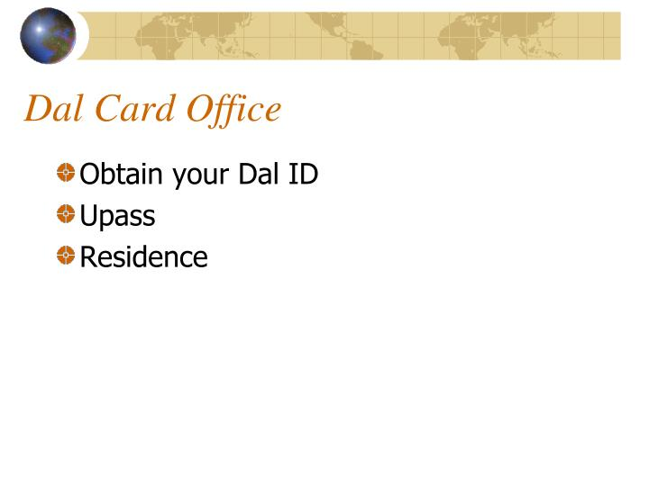 Dal Card Office