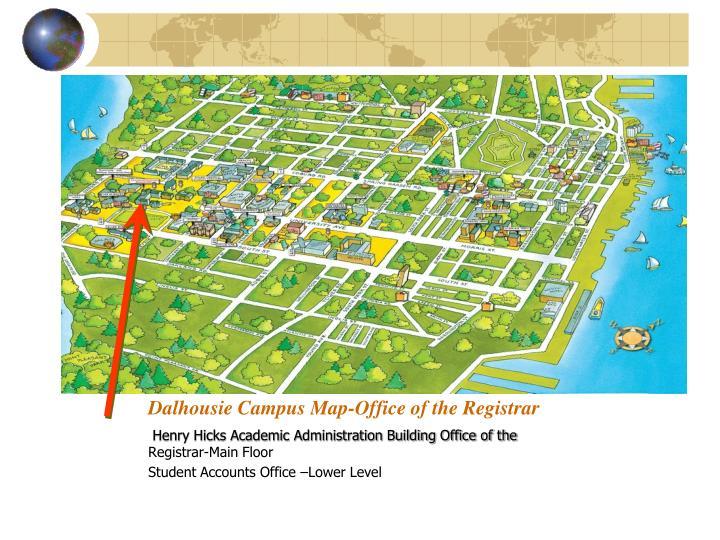 Dalhousie Campus Map-Office of the Registrar