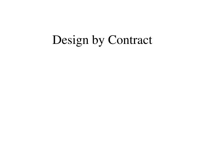design by contract n.