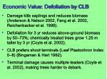 economic value defoliation by clb1