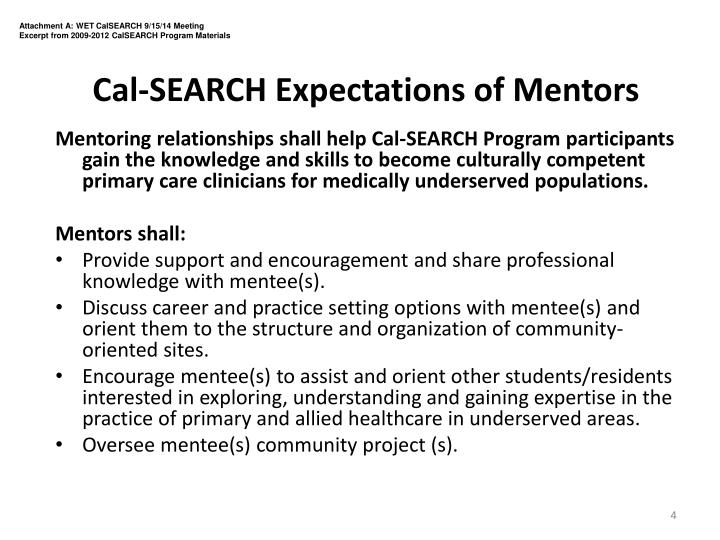 Attachment A: WET CalSEARCH 9/15/14 Meeting