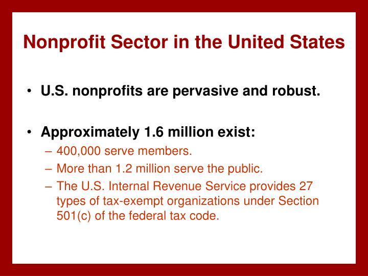 Nonprofit Sector in the United States