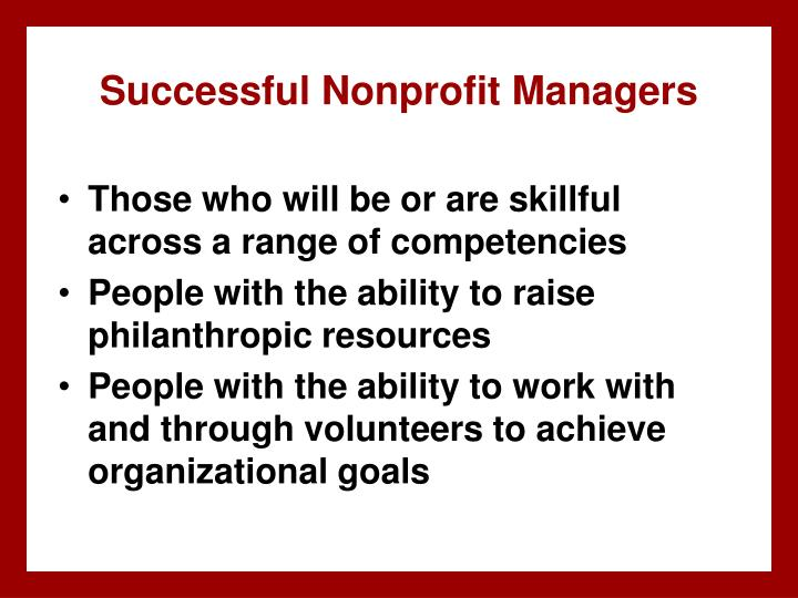 Successful Nonprofit Managers