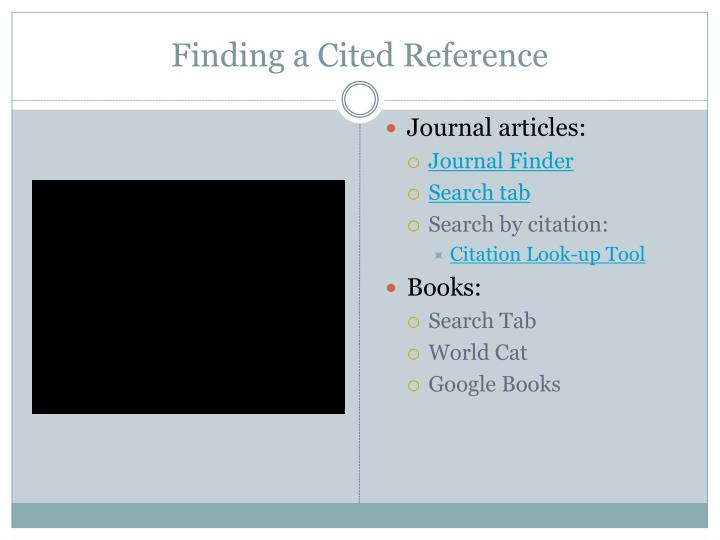 Finding a Cited Reference