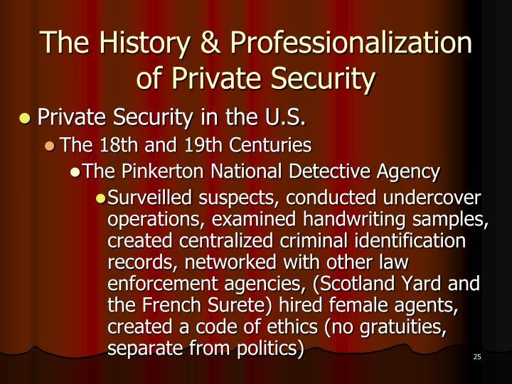 The History & Professionalization