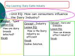 key learning dairy cattle industry