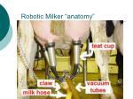 robotic milker anatomy
