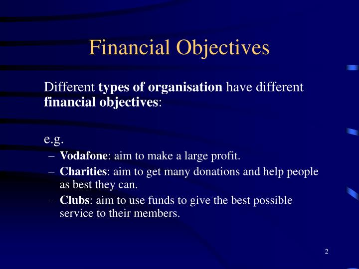 Objectives of finance department at ipo