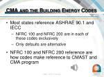 cma and the building energy codes