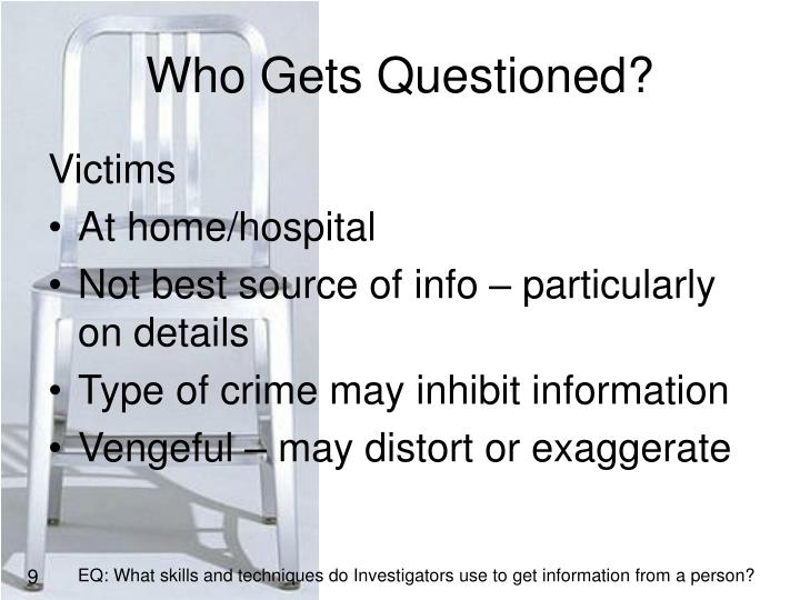 Who Gets Questioned?