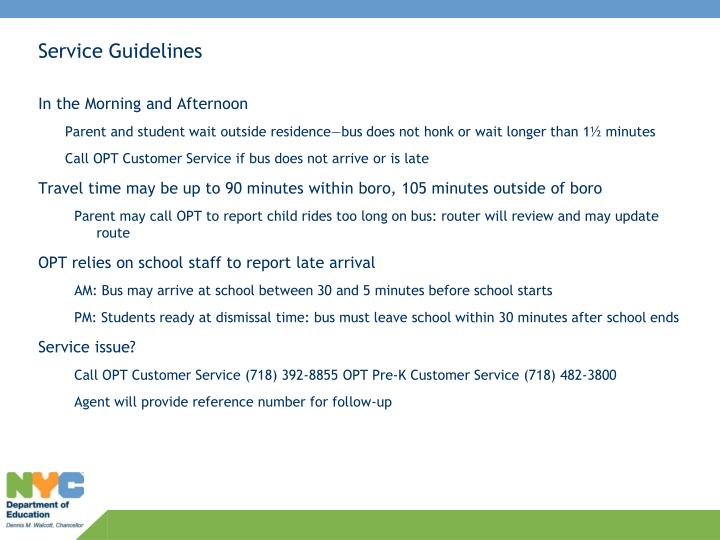 Service Guidelines