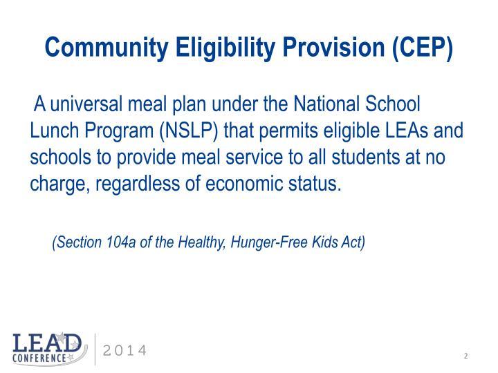 Community eligibility provision cep