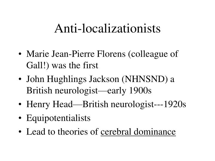 Anti-localizationists