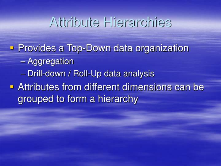 Attribute Hierarchies
