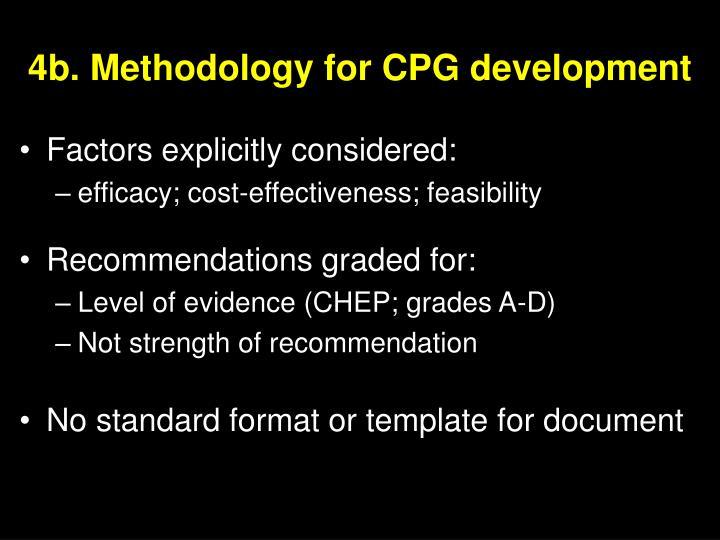 4b. Methodology for CPG development