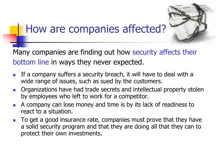 How are companies affected?