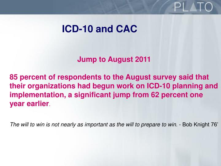ICD-10 and CAC