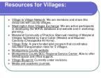 resources for villages