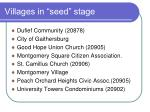 villages in seed stage
