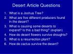 desert article questions