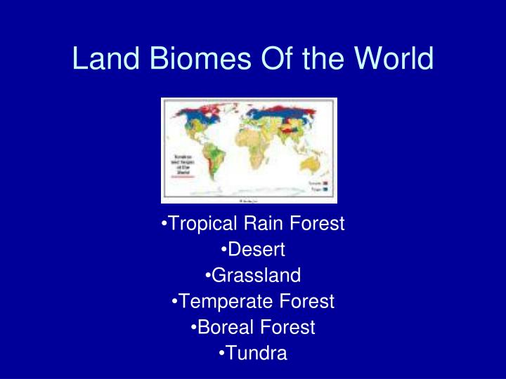 land biomes of the world n.