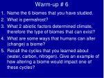 warm up 6