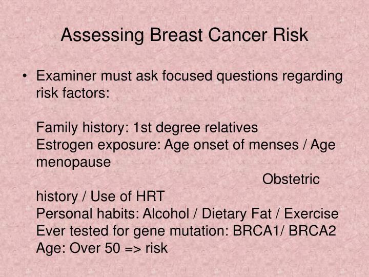 Assessing Breast Cancer Risk