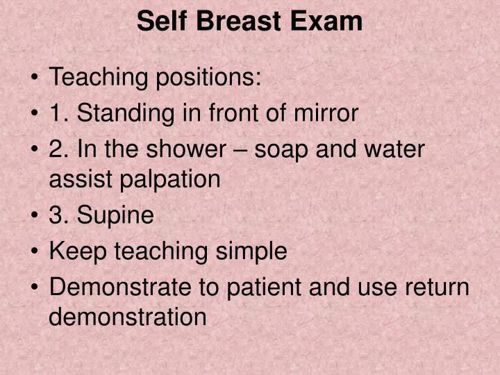 Self Breast Exam