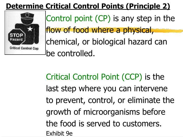 Determine Critical Control Points (Principle 2)