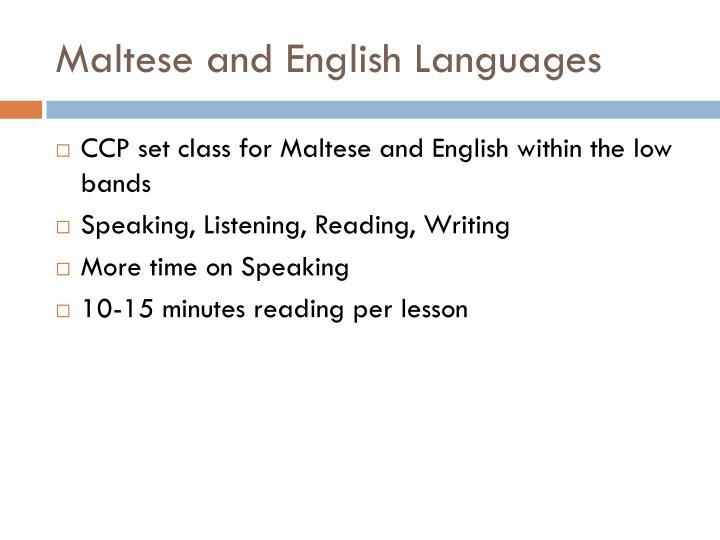 Maltese and English Languages