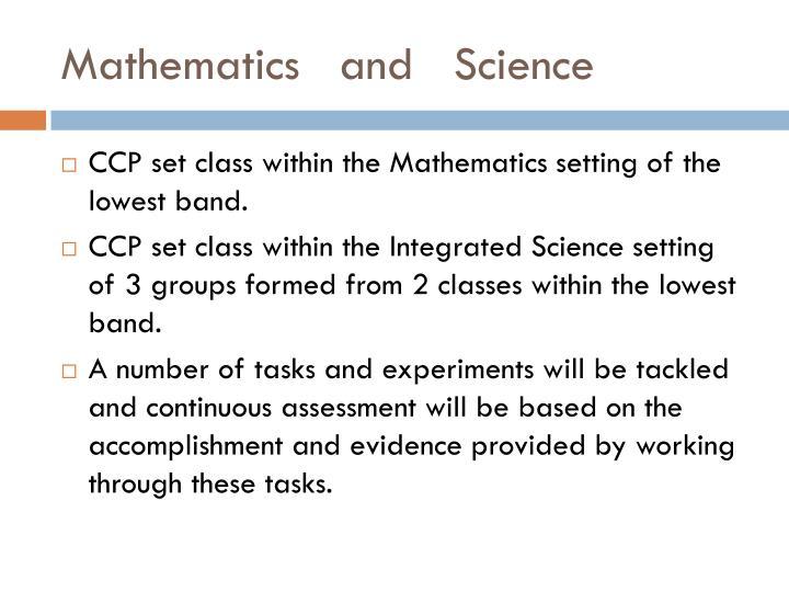 Mathematics   and   Science
