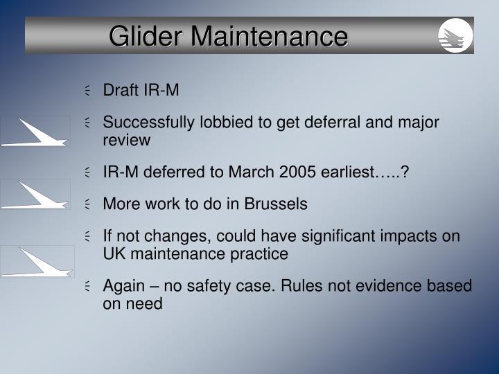 Glider Maintenance